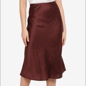 Satin Patterned Midi Skirt